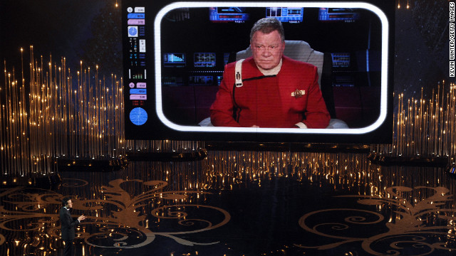 Captain Kirk helps out Seth McFarlane