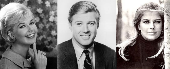 The original vision: Doris Day, Robert Redford and Candice Bergen