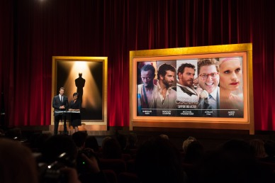 Chris Hemsworth and Academy President Cheryl Boone Isaacs announce the nominations for the 86th Academy Awards