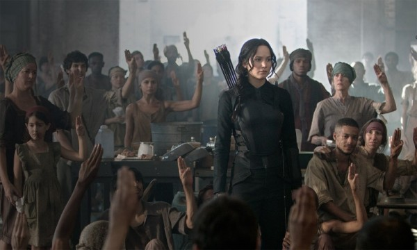 Katniss Everdeen (Jennifer Lawrence) is the Mockingjay