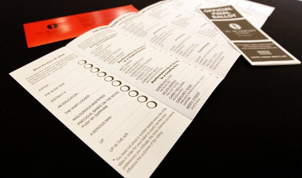 Oscars Ballot Paper